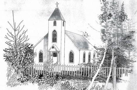 Dickenson's Stetch of Moravian Church (2) - Copy